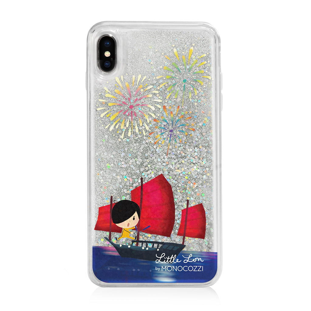 Pattern Lab x Little Lon | Liquid Glitter Case for iPhone XS Max - Fireworks