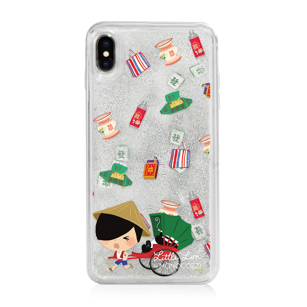 Pattern Lab x Little Lon | Liquid Glitter Case for iPhone XS Max - Rickshaw