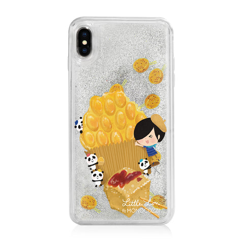 Pattern Lab x Little Lon | Liquid Glitter Case for iPhone XS Max - Egg Puffs