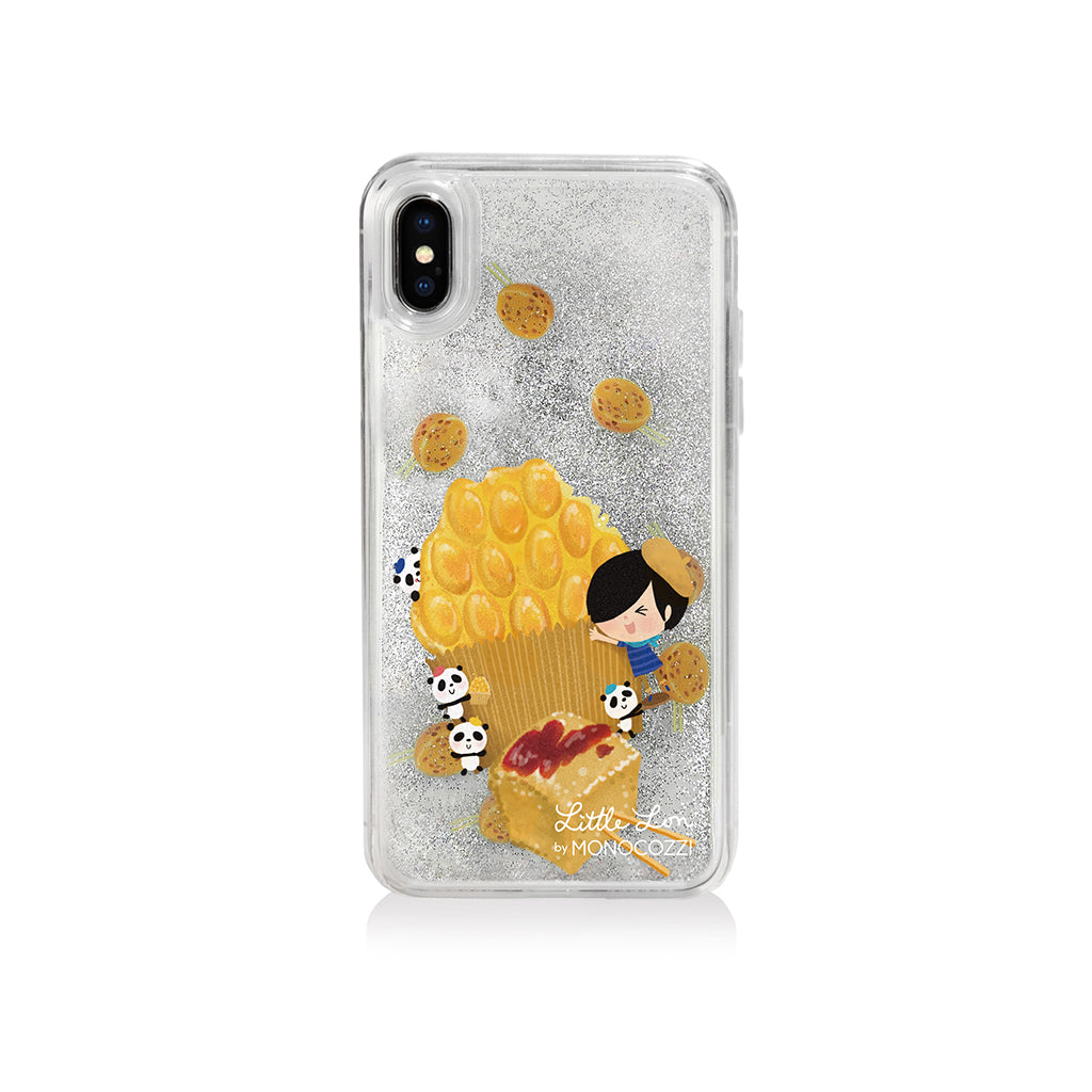 Pattern Lab x Little Lon | Liquid Glitter Case for iPhone XS - Egg Puffs