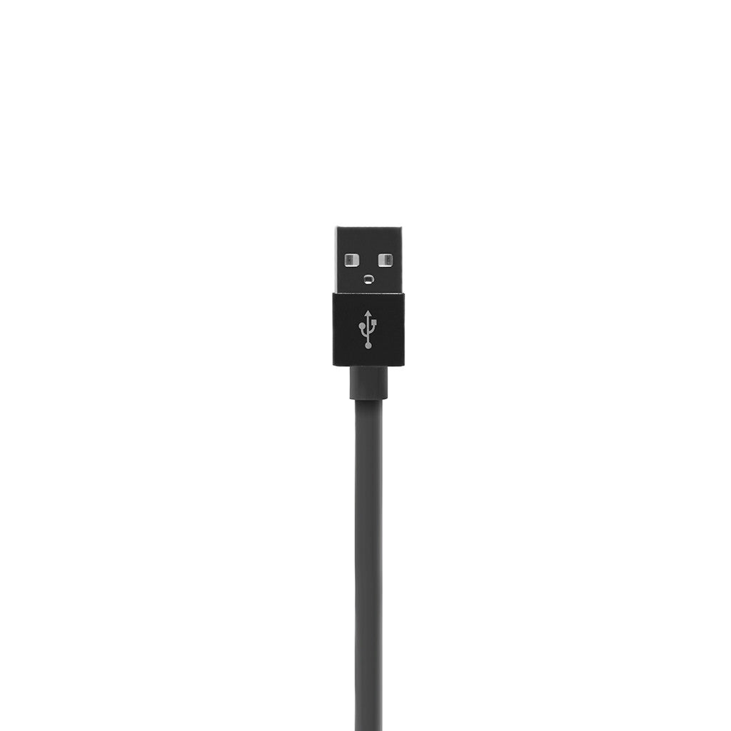 ALUMFLAT | USB Sync and Charge Cable with Lightning connector (20cm) - Black