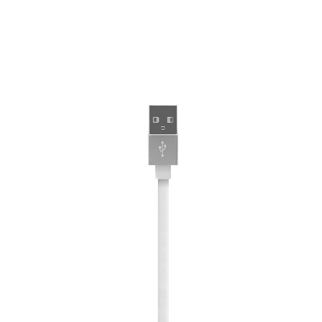 ALUMFLAT | USB Sync and Charge Cable with Lightning connector (20cm) - White