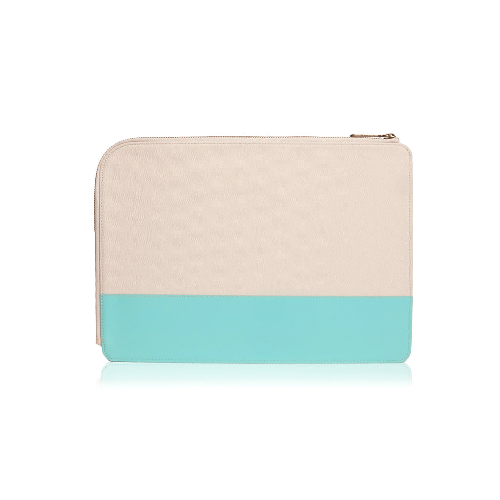 "GRITTY | Ultra Slim Sleeve for MacBook Pro 13"" w/ USB-C & MacBook 12"" - Tiffany Blue"