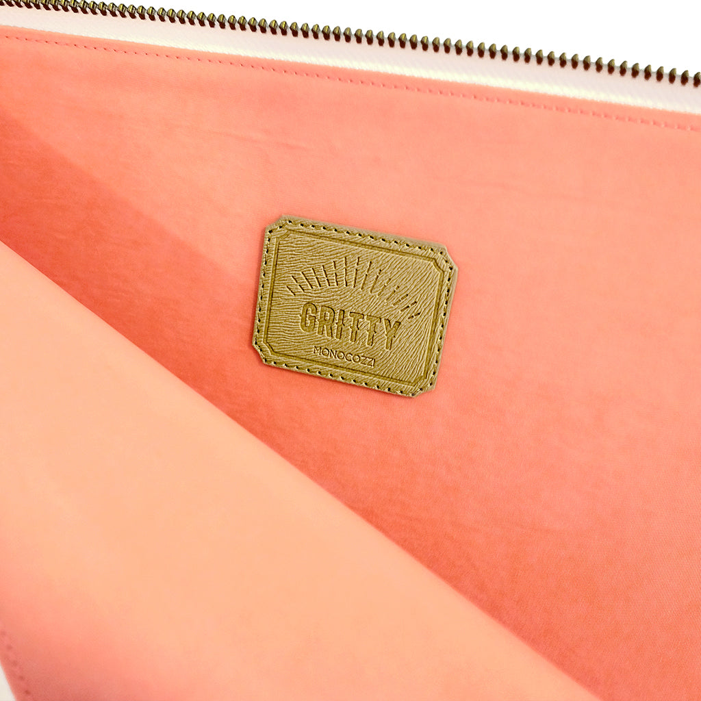 "GRITTY | Ultra Slim Sleeve for MacBook Pro  13"" w/ usb-c & Macbook 12"" - Coral"