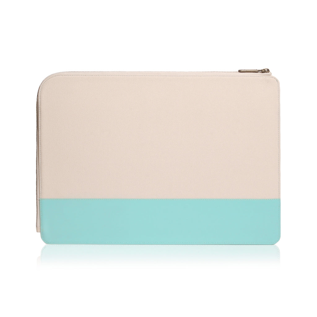 "Gritty | Ultra Slim Sleeve for MacBook Pro 15"" w/ USB-C & MacBook Air 13"" - Tiffany Blue"