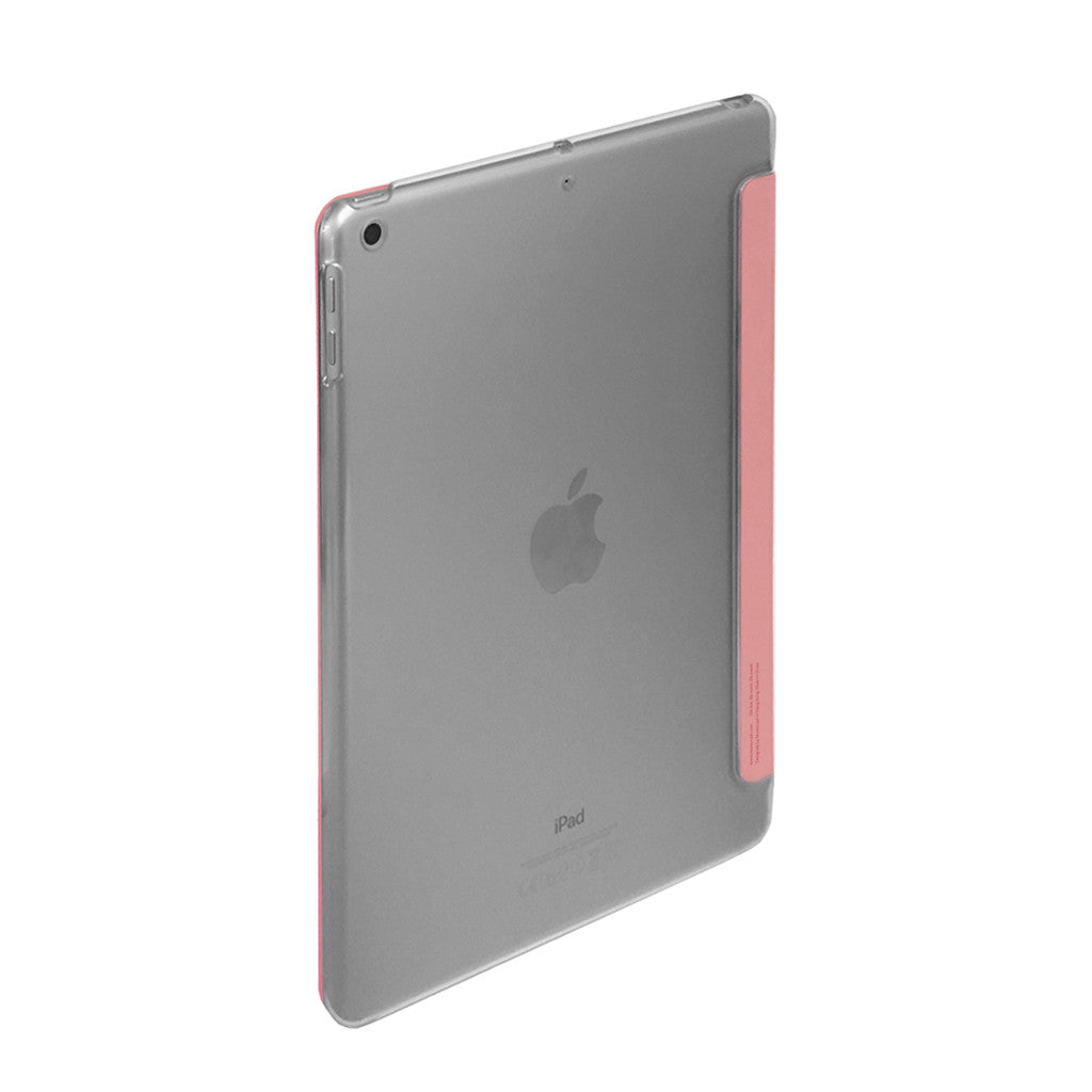 "LUCID FOLIO | Ultra Slim Hard Flip Case for iPad 9.7"" 2017 with Auto On-Off - Coral"