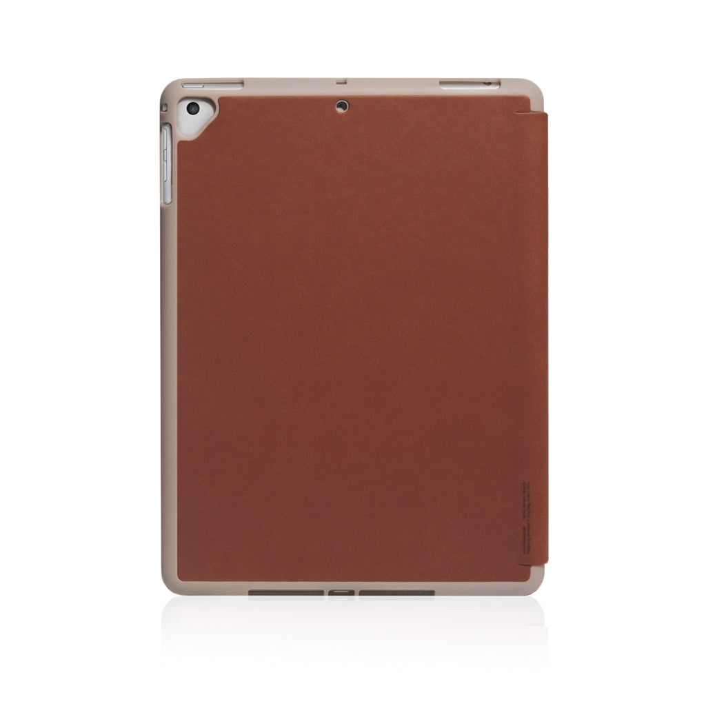 Lucid Plus Folio | Shock Resistant Folio Case for (2018) 9.7-inch iPad with Apple Pencil Slot - Tan