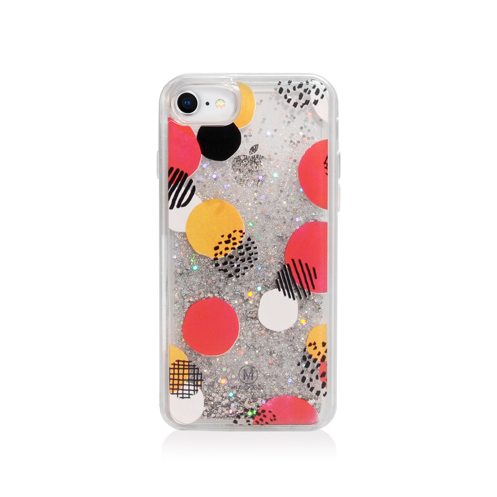 Pattern Lab | Liquid Glitter Case for iPhone SE/ 8/ 7/ 6s /6 - Dots