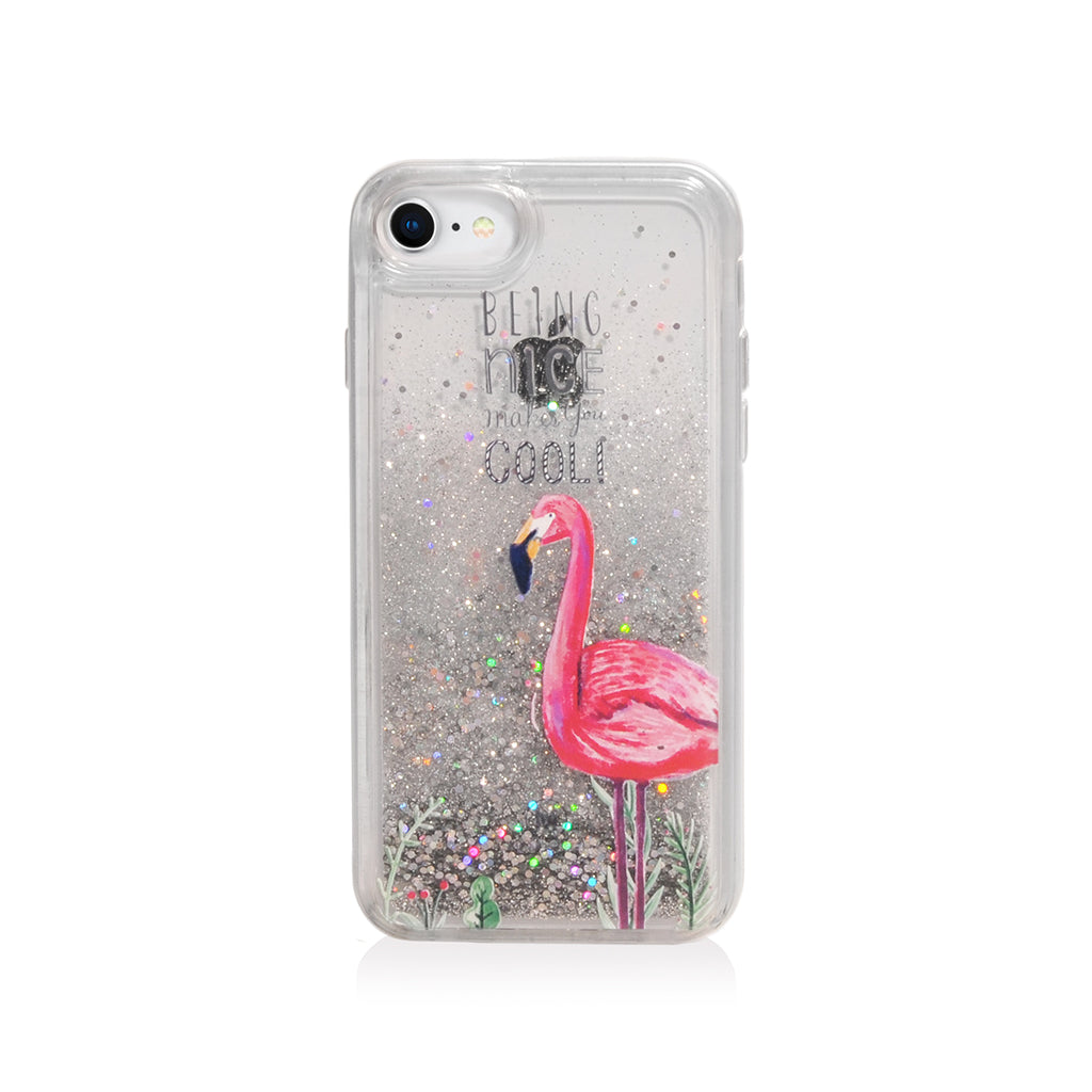 Pattern Lab | Liquid Glitter Case for iPhone SE/ 8/ 7/ 6s /6 - Flamingo
