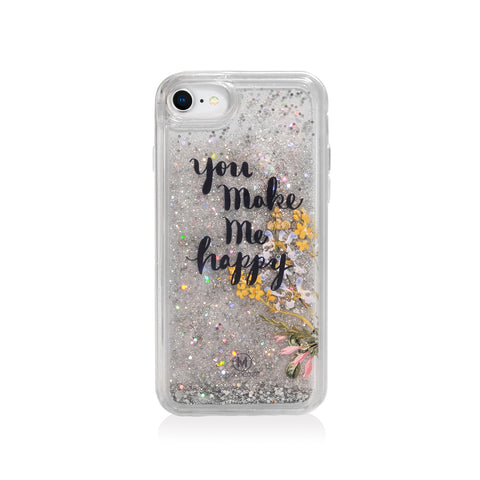 Pattern Lab | Liquid Glitter Case for iPhone SE/ 8/ 7/ 6s /6 - Happy