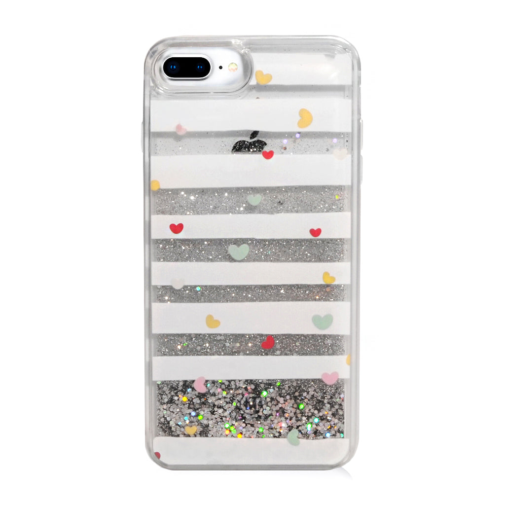 Pattern Lab | Liquid Glitter Case for iPhone 8 Plus/ 7 Plus/ 6s Plus/ 6 Plus - Hearts