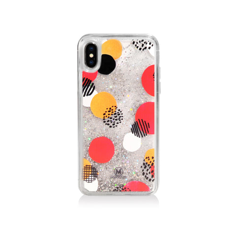 Pattern Lab | Liquid Glitter Case for iPhone X - Dots