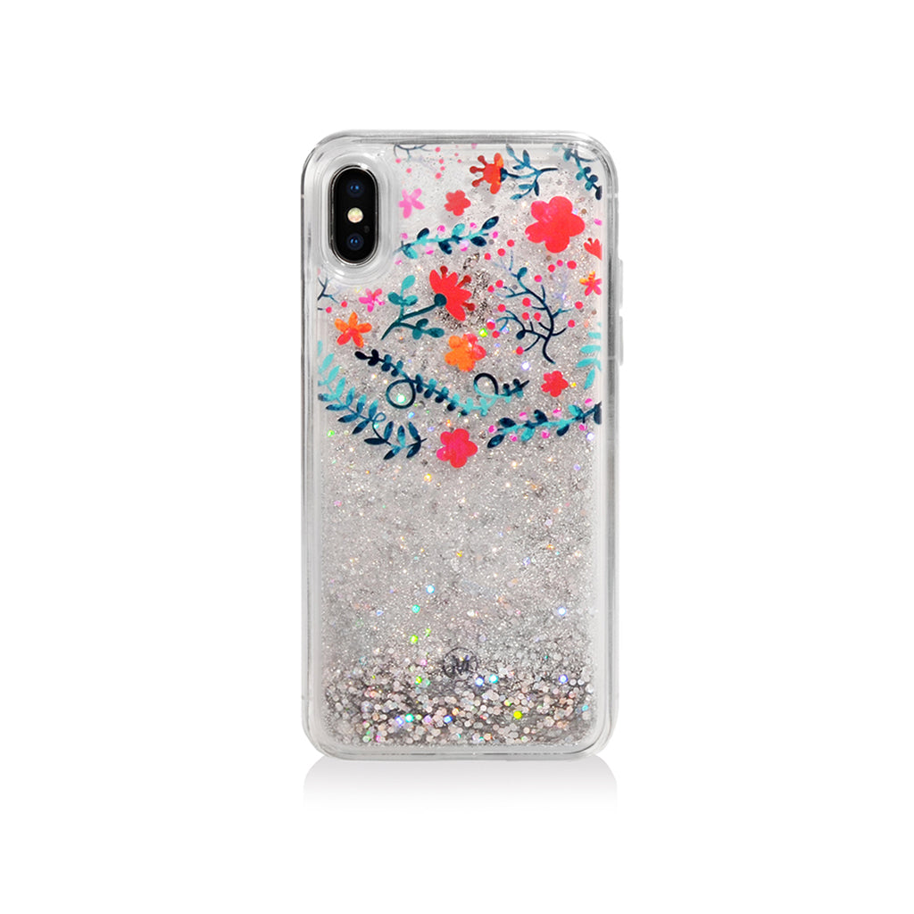 Pattern Lab | Liquid Glitter Case for iPhone X - Flower