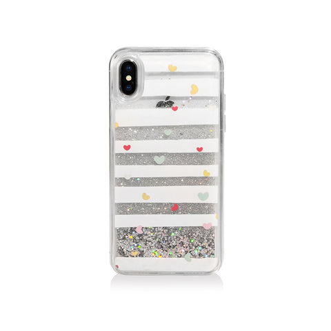 Pattern Lab | Liquid Glitter Case for iPhone X - Heart