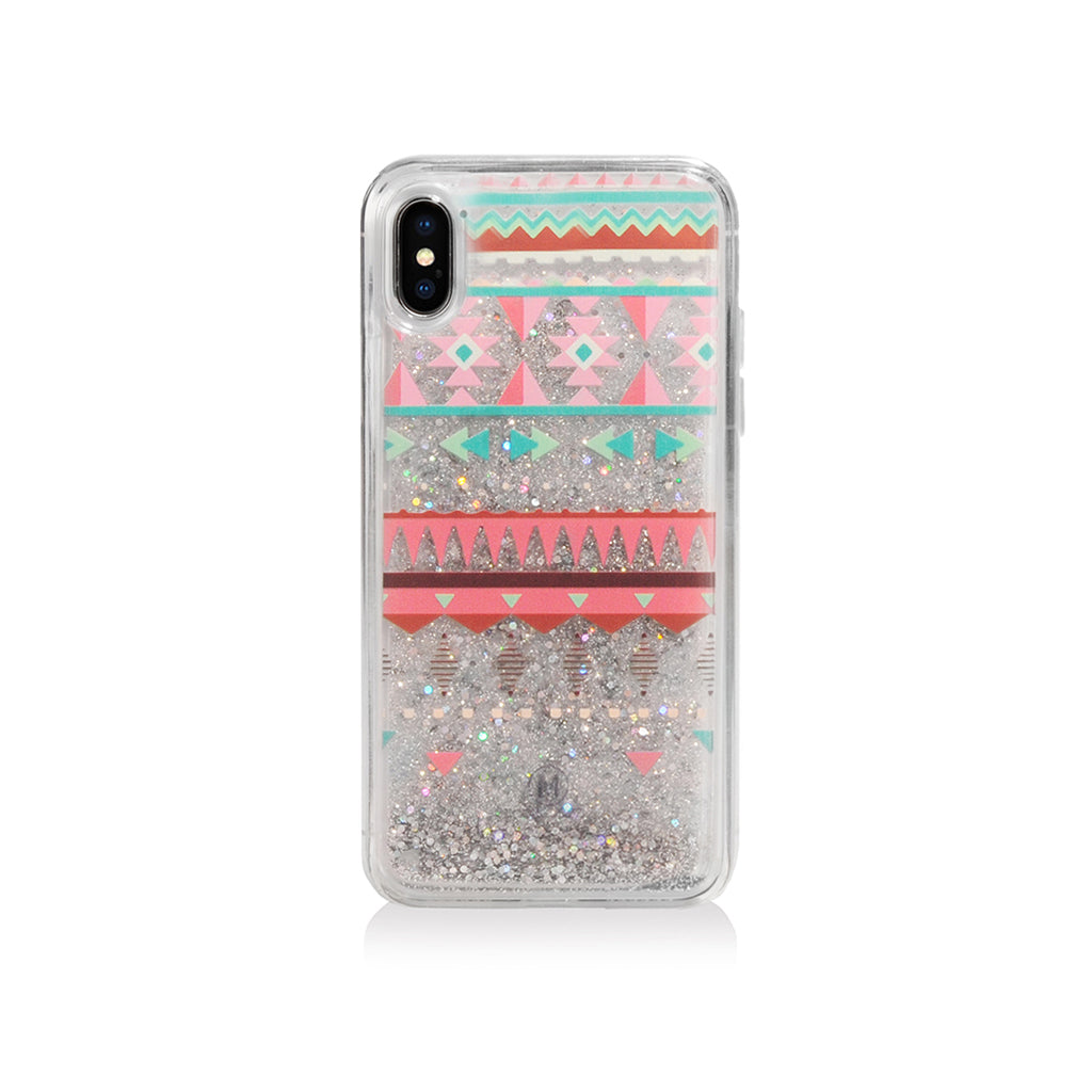 Pattern Lab | Liquid Glitter Case for iPhone X - Triangles