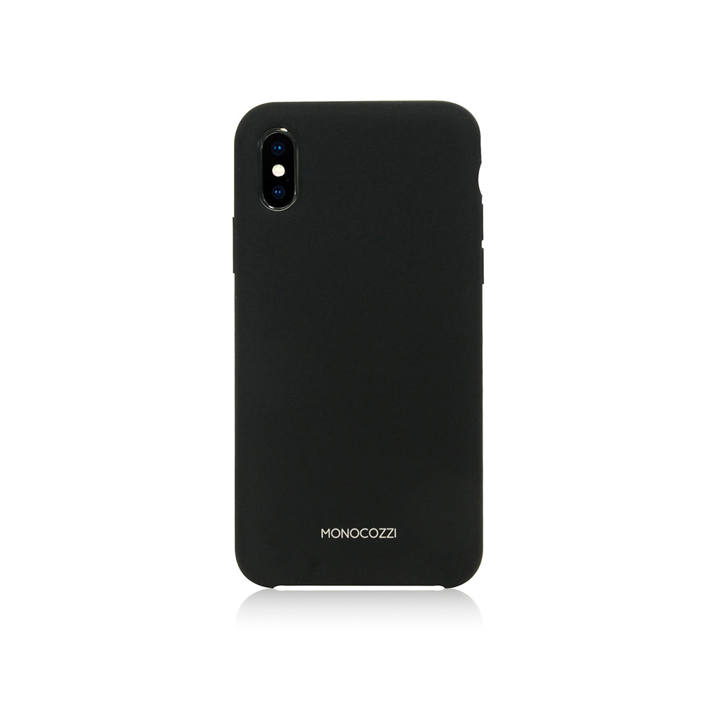 GRITTY | Liquid Silicon Stain Resistant Case for iPhone XS - Black