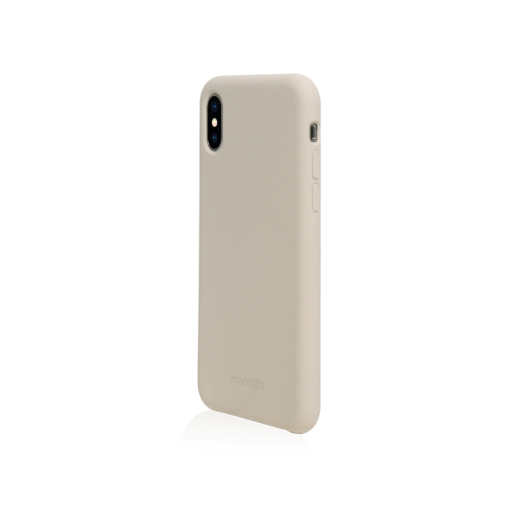 GRITTY | Liquid Silicon Stain Resistant Case for iPhone XS -  Stone Grey