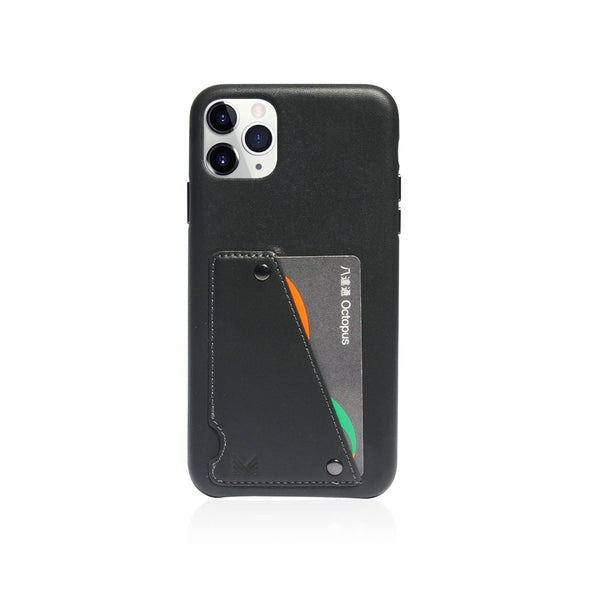 Exquisite|Genuine Leather Shockproof back cover - Charcoal
