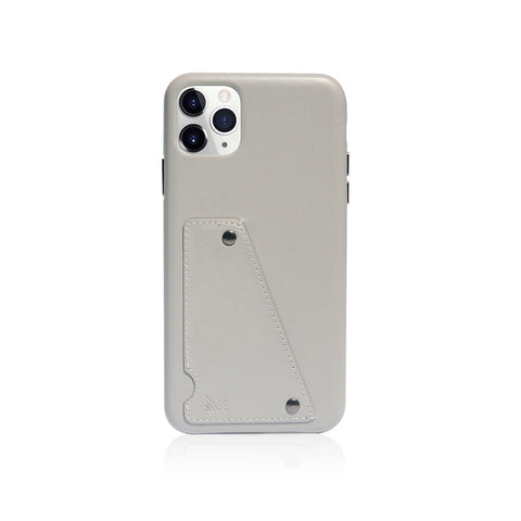Exquisite|Genuine Leather Shockproof back cover - Light Grey