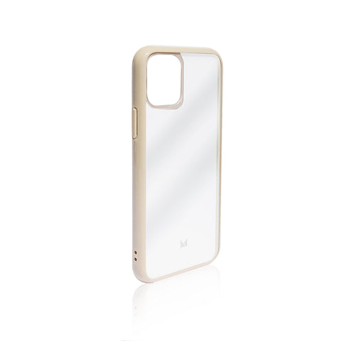 LUCID|Acrylic Back Cover with Hybrid TPU Bumper - Beige