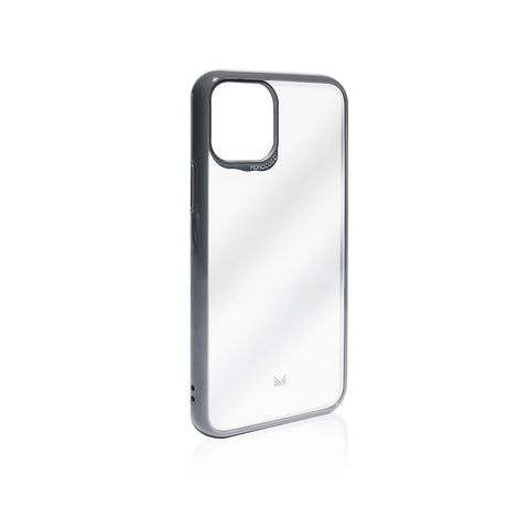 LUCID|Acrylic Back Cover with Hybrid TPU Bumper - Charcoal