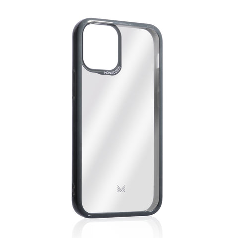 LUCID|Acrylic Back Cover with Hybrid TPU Bumper for iPhone 12 - Charcoal