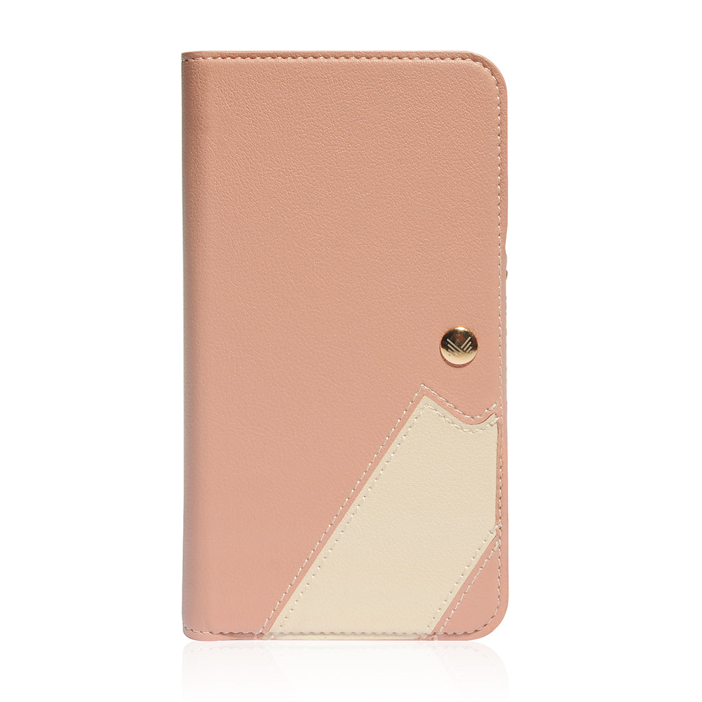 Lucid Folio|Premium Vegan Leather Wallet with detachable Snap-on Back cover for iPhone 11 / 11 Pro / 11 Pro Max - Coral