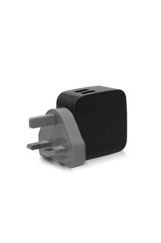SMIGHTY | 4.8A Dual USB Wall Charger with interchangeable multinational connectors - Black