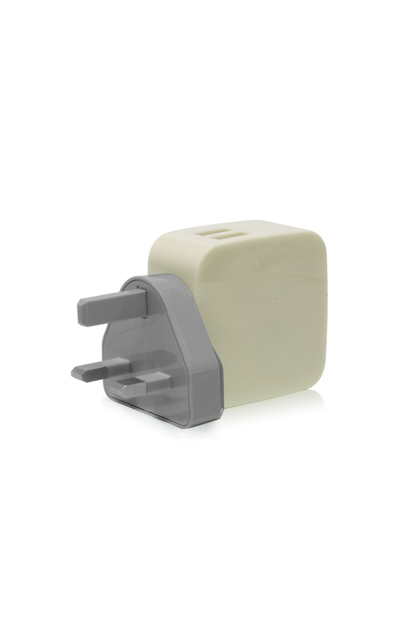 SMIGHTY | 4.8A Dual USB Wall Charger with interchangeable multinational connectors - Khaki