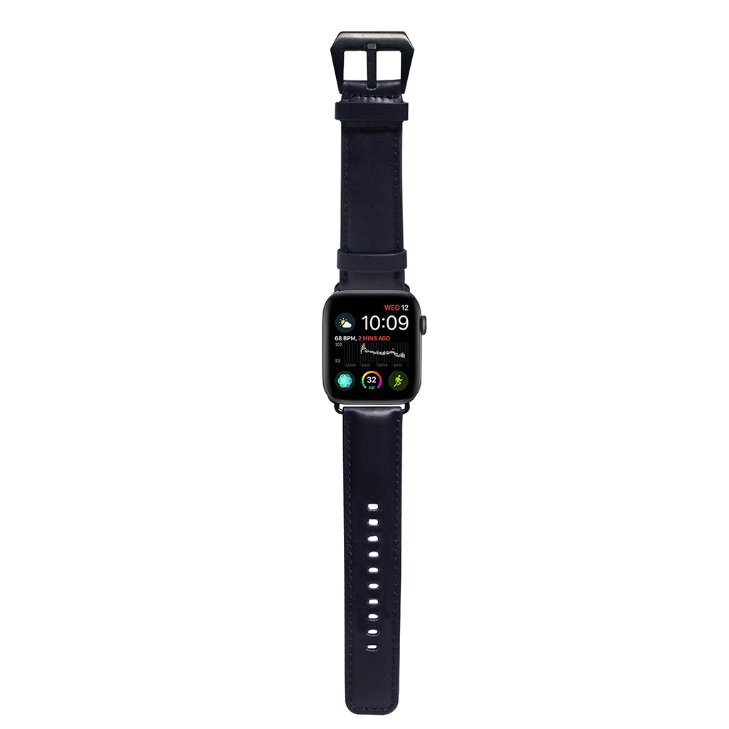 Exquisite | Vintage Leather Strap for Apple Watch 42/44mm - Navy Blue