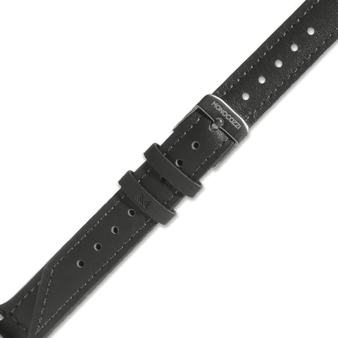 Exquisite | Genuine Leather Double Tour strap for Apple Watch - Charcoal