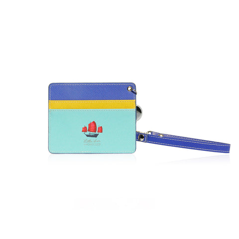 Little Lon x MONOCOZZI | Name Card Holder with Retractable Strap - Night