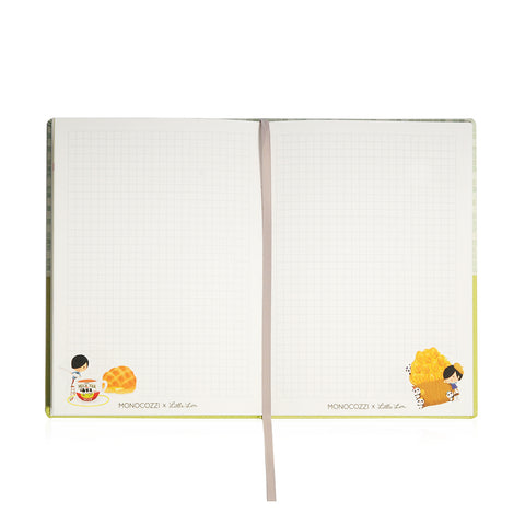 Little Lon x MONOCOZZI | Hard Cover A5 Notebook - MilkTea