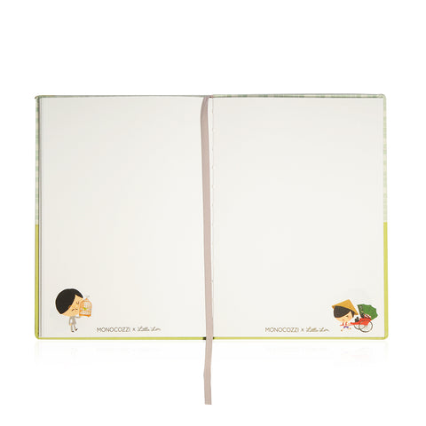 Little Lon x MONOCOZZI | Hard Cover A5 Notebook - Yum Cha