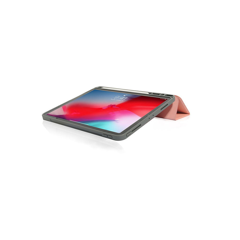 "Lucid Plus Folio | Shock Resistant Folio Case with Apple Pencil Slot for iPad Pro 11"" - Coral"