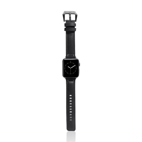 Exquisite | Genuine Leather Single Tour strap for Apple Watch - Charcoal