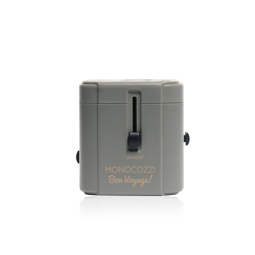 Bon Voyage | Travel Adaptor with 4.5A Dual USB and USB-C Connector - Charcoal