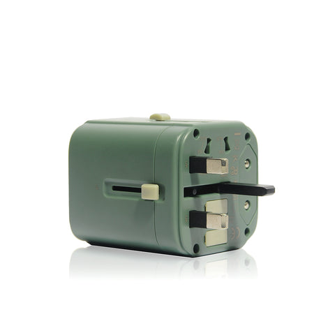 Bon Voyage | Travel Adaptor with 4.5A Dual USB and USB-C Connector - Green