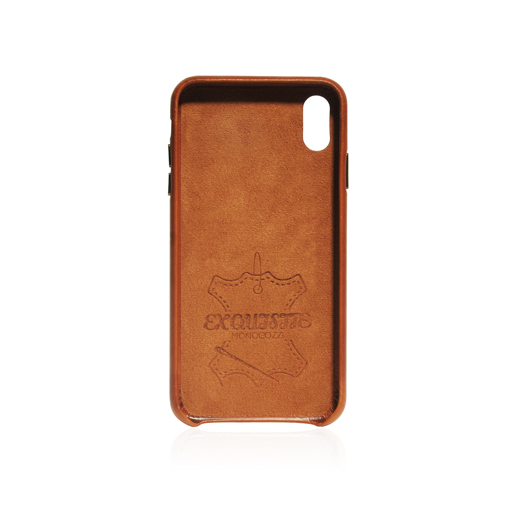 EXQUISITE | Vintage Leather Hard Shell Case for iPhone XS - Tan