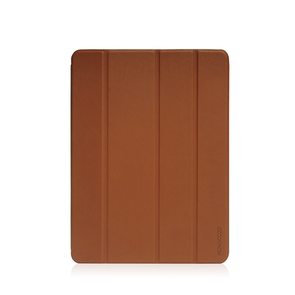 "Lucid Plus Folio | Shock Resistant Folio Case with Apple Pencil Slot for iPad Air (2019)10.5"" - Tan"