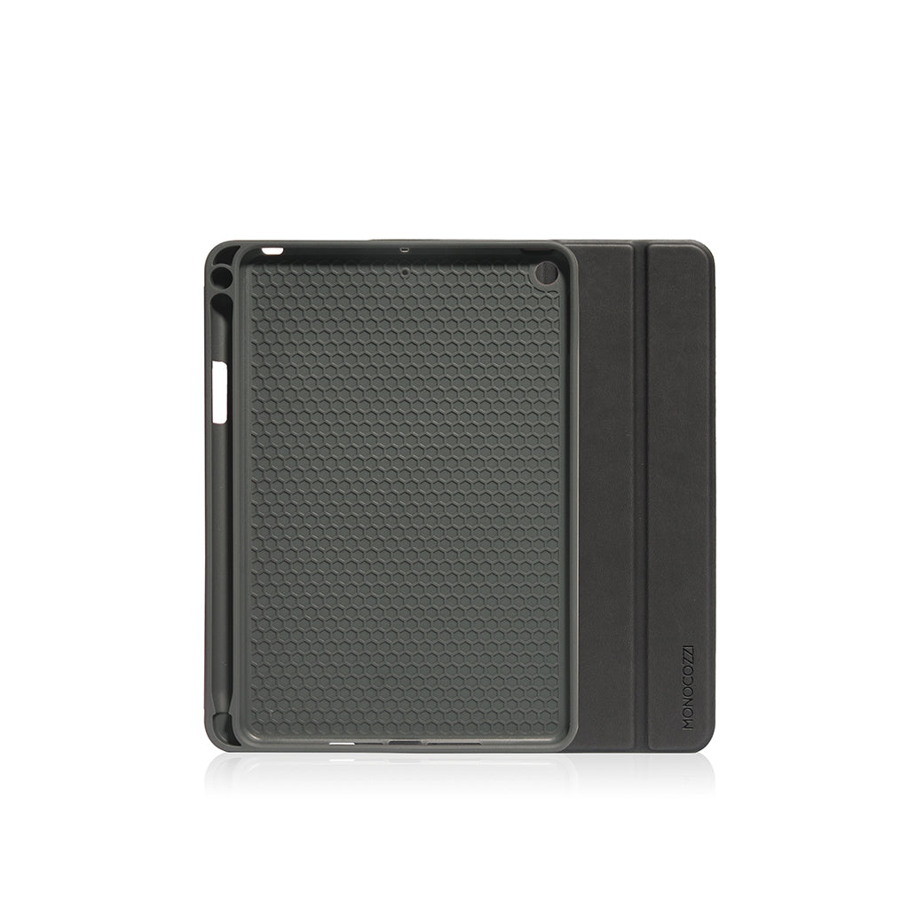 Lucid Plus Folio | Shock Resistant Folio Case with Apple Pencil Slot for iPad Mini (2019) - Charcoal