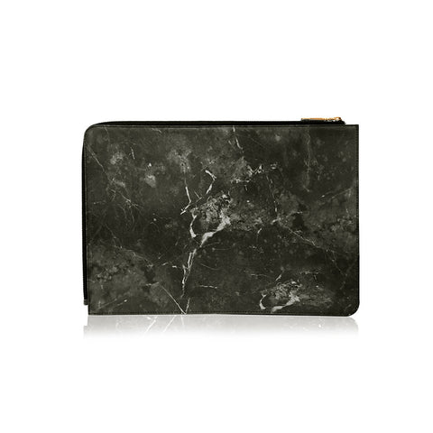 POSH | Ultra Slim Faux Leather Sleeve for MacBook Pro w/USB-C  - Marble Black