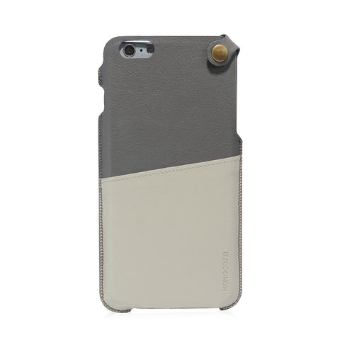 POSH | Soft Leather Pouch for iPhone 6 Plus - Grey
