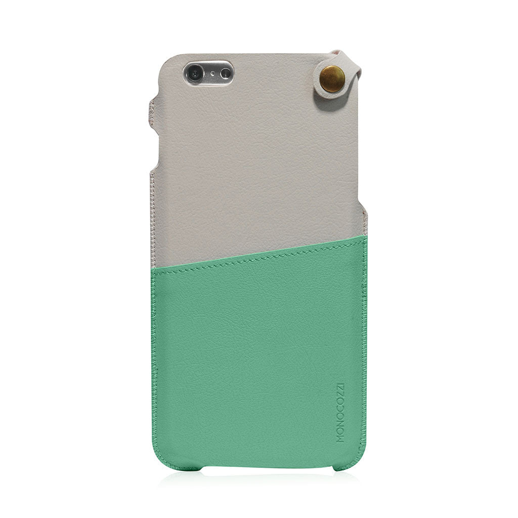 POSH | Soft Leather Pouch for iPhone 6 Plus - Green