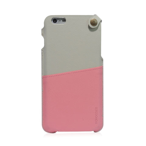 POSH | Soft Leather Pouch for iPhone 6 Plus - Pink