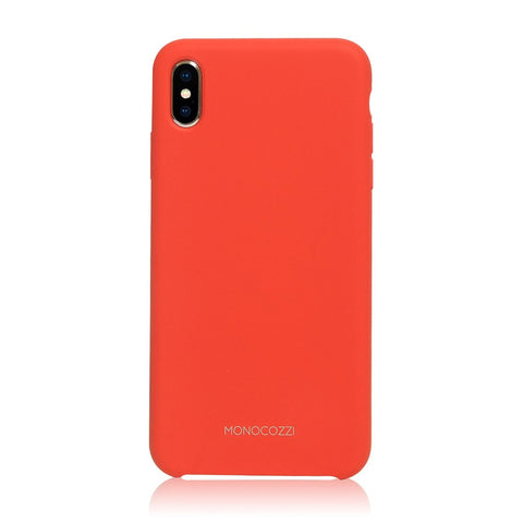 GRITTY | Liquid Silicon Stain Resistant Case for iPhone XS Max - Red
