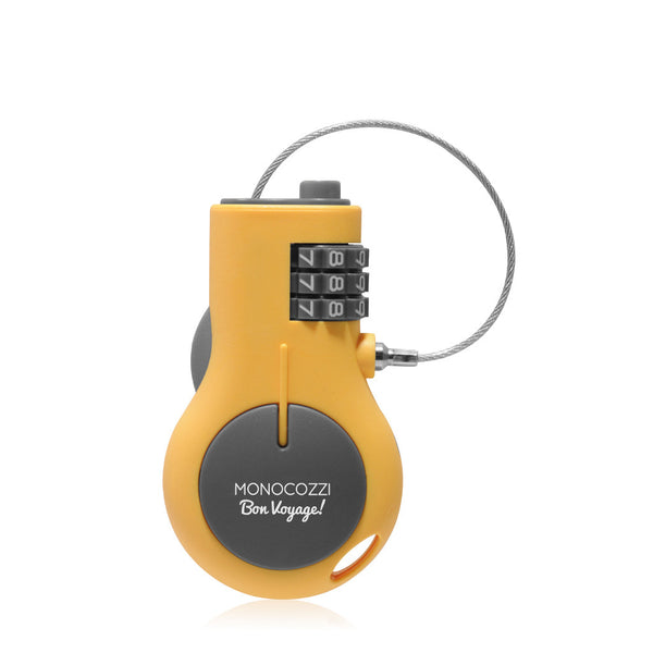 BON VOYAGE | Portable Retractable Lock - Yellow