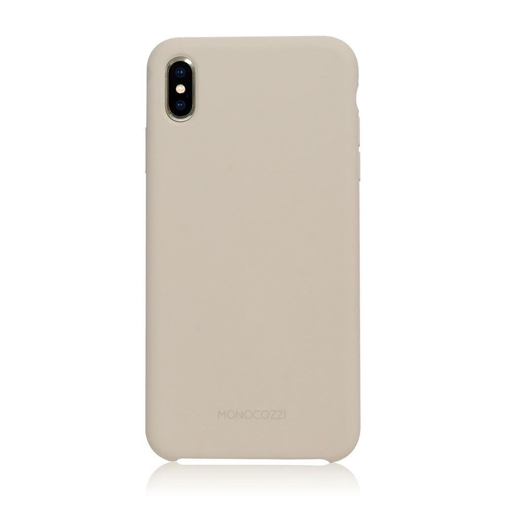 GRITTY | Liquid Silicon Stain Resistant Case for iPhone XS Max -  Stone Grey