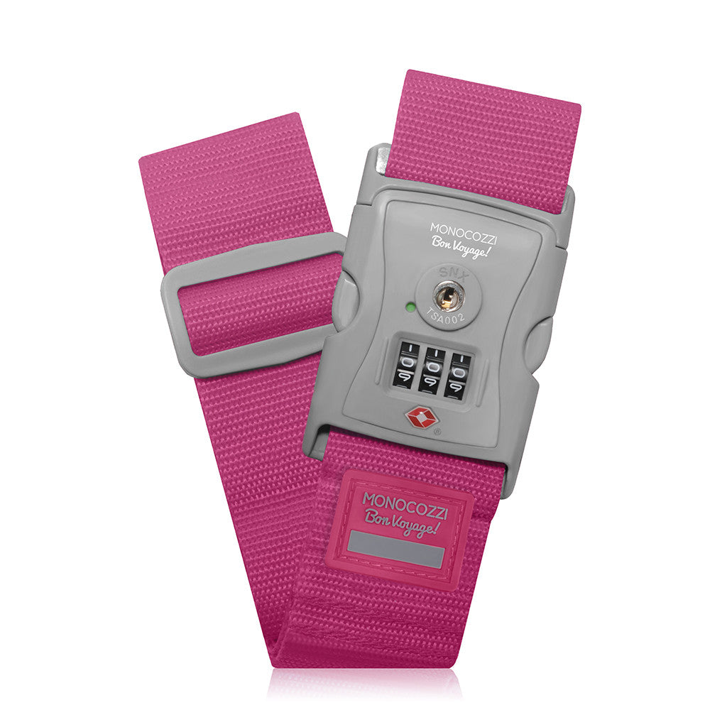 "BON VOYAGE | 2"" TSA Luggage Belt - Pink"