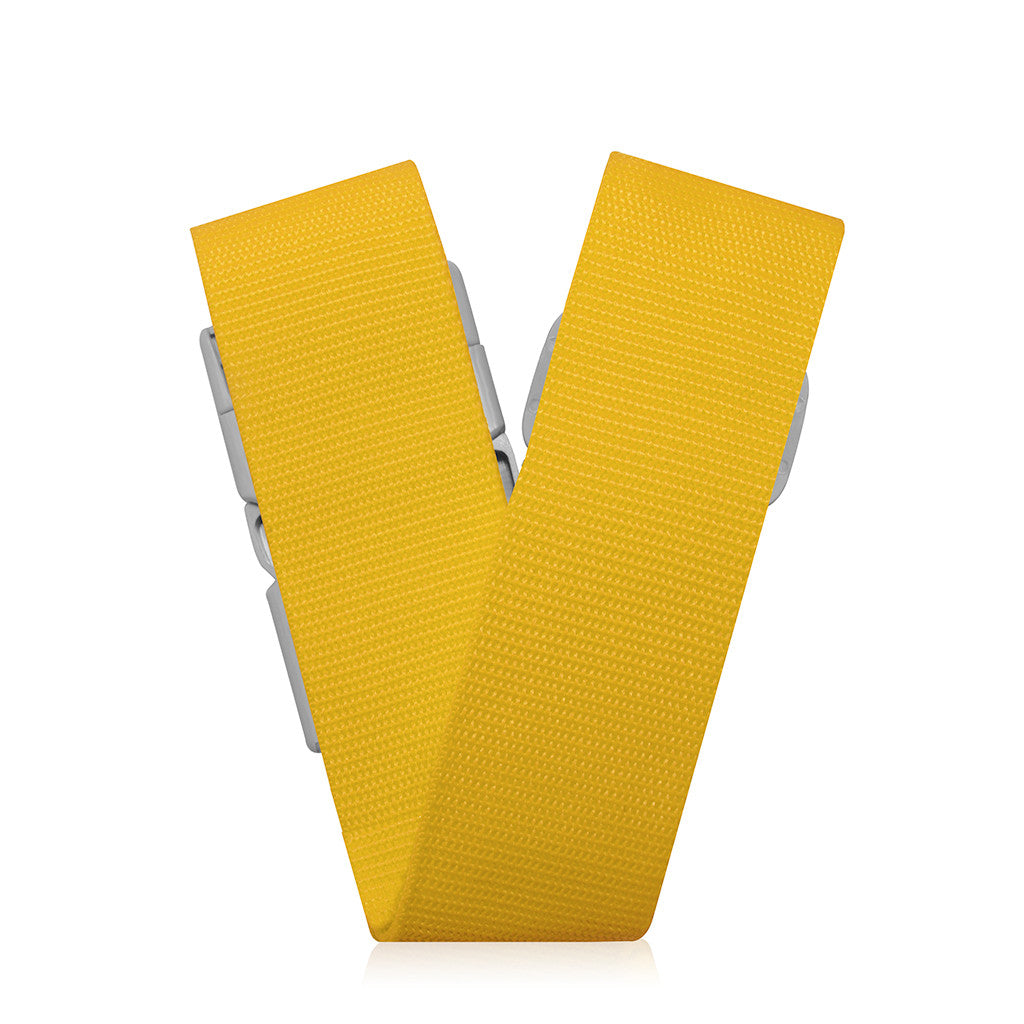 "Bon Voyage | 2"" TSA Luggage Belt - Yellow"